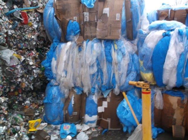 32,000 lbs LDPE clear and blue film in bales for sale