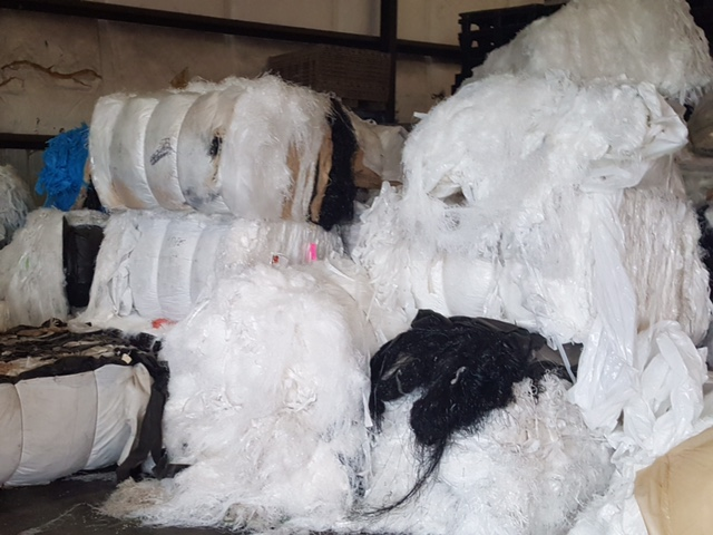 40,000 lbs Post Industrial HDPE mix color film in bales for sale