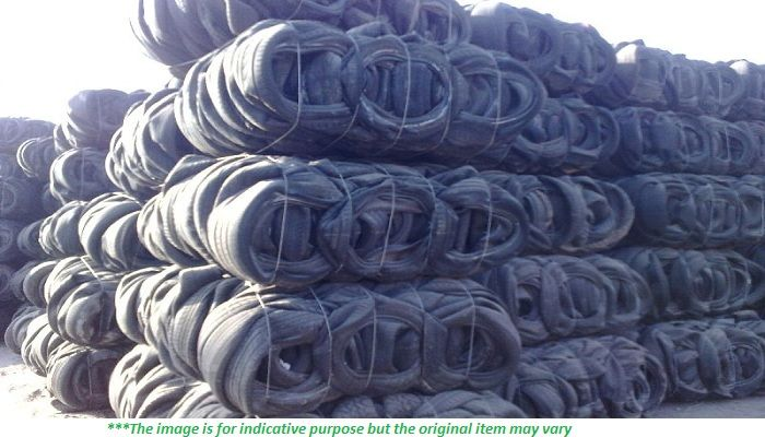 200 MT of Baled Car Tyre Scrap for Sale on Regular Monthly Basis