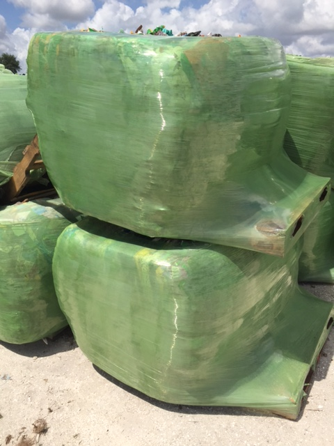 80,000 lbs LDPE mulch bags in bales available for sale