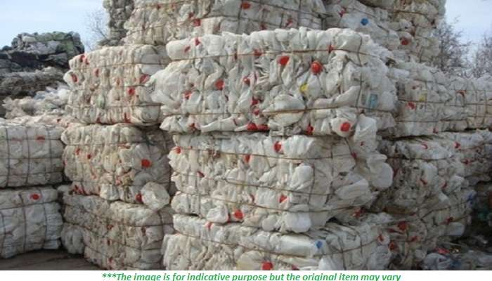 150 Tons Monthly Baled HDPE Bottles Scrap for Sale