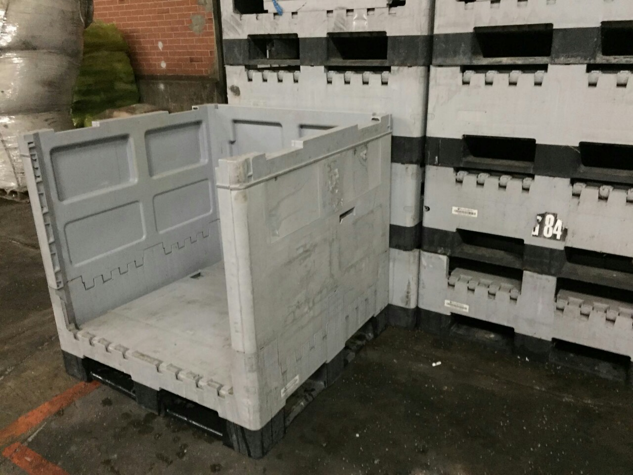 30 Pieces of Plastic Collapsible Crates Arca Systems Scrap for Sale