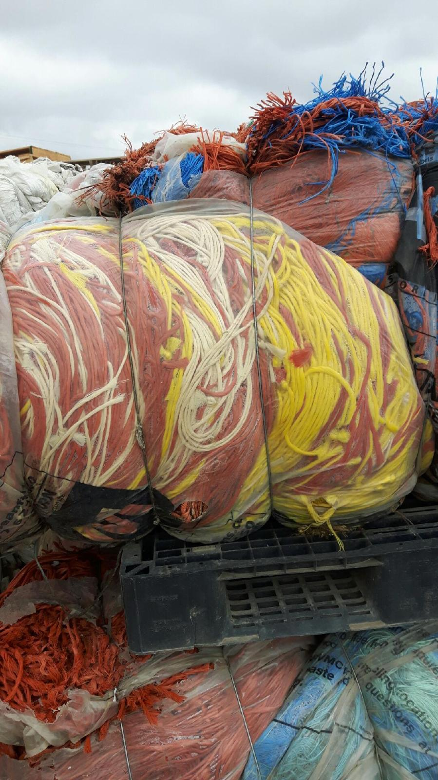 Nylon Twine Scrap 160,000 lbs in bales for Sale!!!