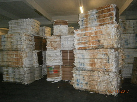 EPS bales from fish boxes