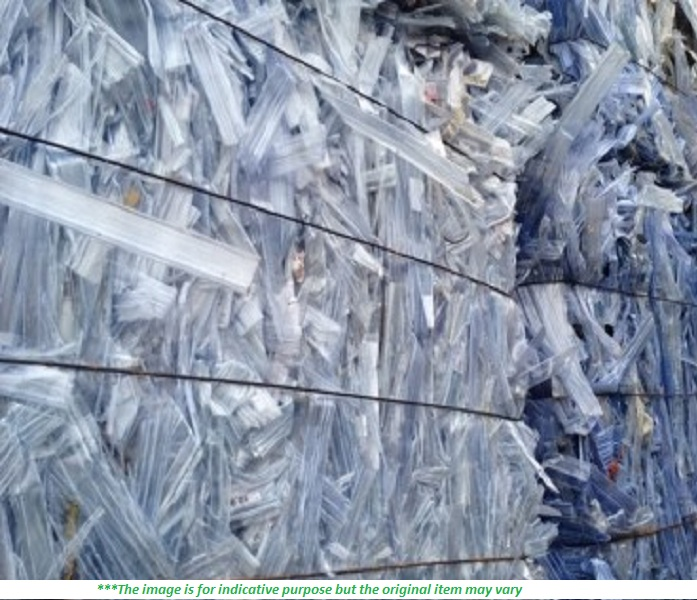 50 MT of Clear PVC Rigid IC Tubes scrap for Sale