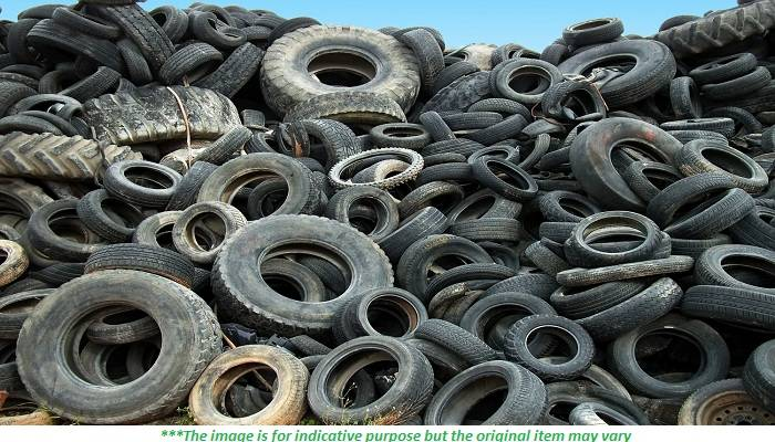 500 MT Tyre Scrap Available for Sale