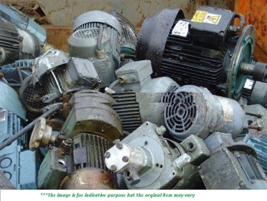 Electric Motor Scrap 100 MT for Sale @ 320 USD / MT