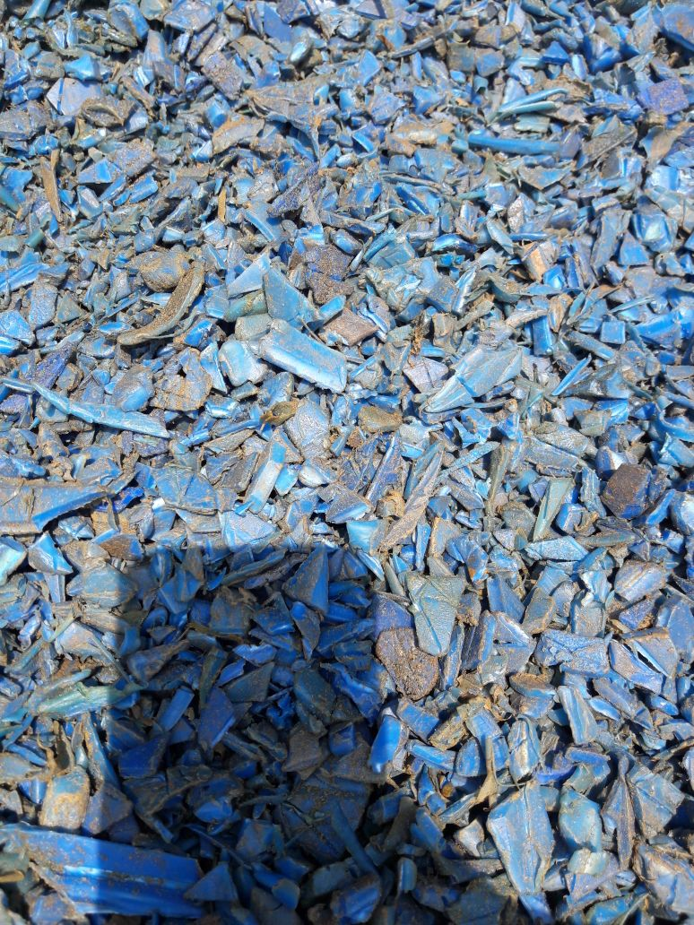 50MT HDPE Blue Drums Grinding Unwashed Scrap for Sale