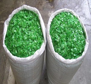 Green Color PET Bottle Flakes 800 Tons per Month for Sale