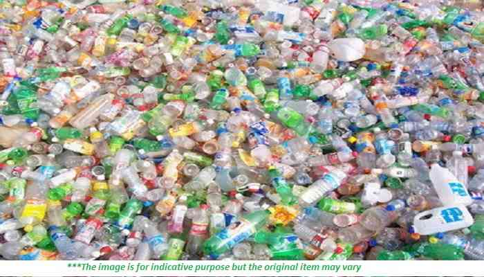 Baled Green Post Consumer PET Bottles Scrap for Sale