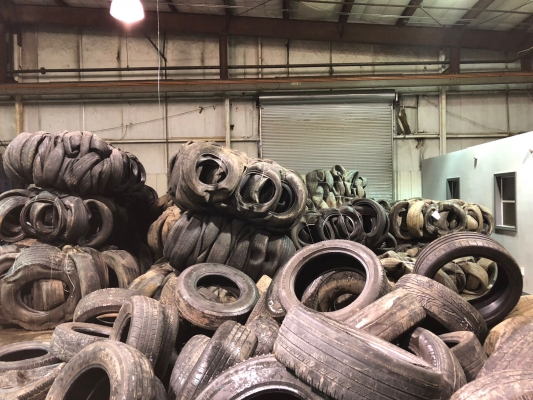 3-5 Container/Week Baled Tyre Scrap for Sale