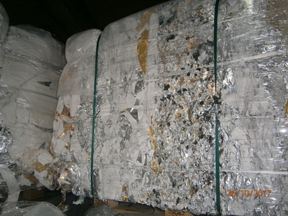 50 Tons Aluminum/Paper Scrap for Sale