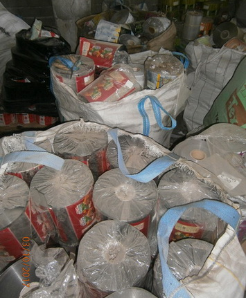 22 Tons Mixed Plastic Scrap in Rolls for Sale