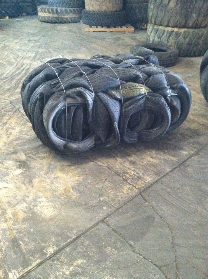 100 MT Baled Tyre Scrap for Sale