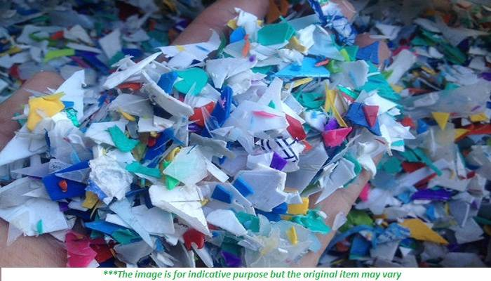 Mixed Color HDPE Flakes 400 MT for Sale