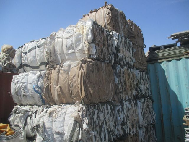 SALES OFFER : No.102PPJ-07/2018 1x40 Container PP Jumbo Bags Scrap BUNDLES -DRAFT