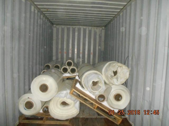 White PET Roll Scrap 19 MT per Container for Sale