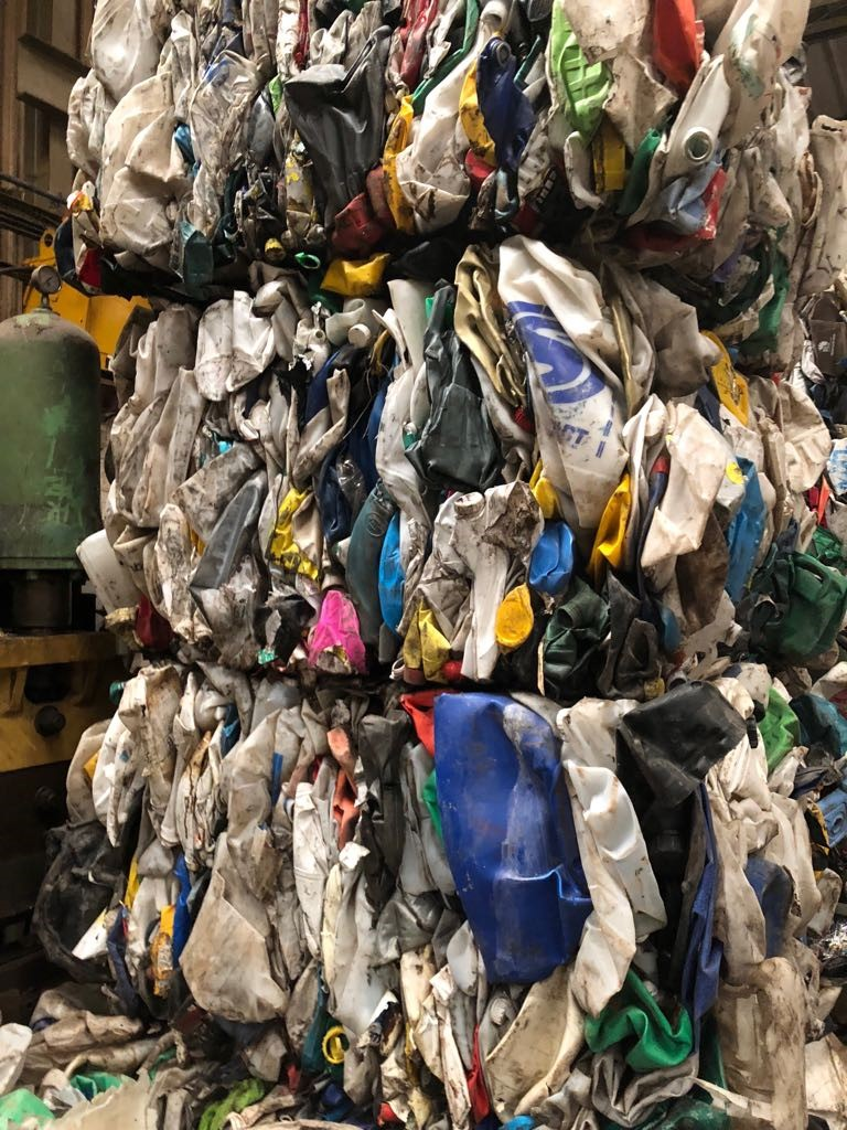 HDPE Cans Scrap for Sale in Bales