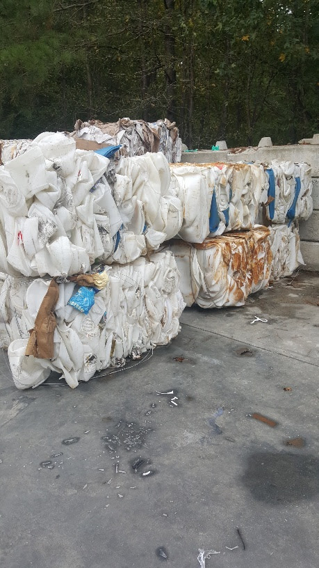 Natural Color HDPE Drum Scrap for Sale in Bales, Husky