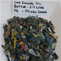 150 MT Mixed Colour HDPE Flakes for Sale from Oil drums and Bottles