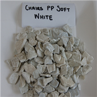 White Color PP Soft Chairs Regrind 40 MT for Sale
