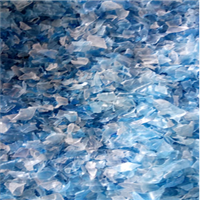 Offering Blue Natural Hot Washed PET Bottle Flakes 500 MT @ 550 US $