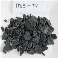 Monthly 40 MT Grinded and Cleaned Black ABS Regrind from TV Scrap for Sale