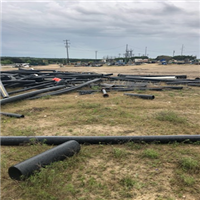 RR7872A 45,000 lbs HMW HDPE Black Pipe Scrap Available for Sale
