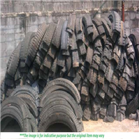 150 MT Radial Cut Truck Tyre Scrap for Sale in Bales