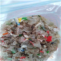 Crushed and Unwashed PET Bottle Flakes Mixed Color for Sale