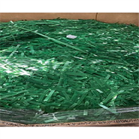 RR1009E 40,000 lbs PET Chopped Green Translucent Strapping Available