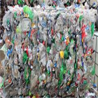 PET Bottles Scrap with Some Aluminum Cans Mixed in Bales 80,000 lbs for Sale