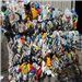 40000 lbs RR983J Mixed Color HDPE Bottle Scrap in Bales for Sale